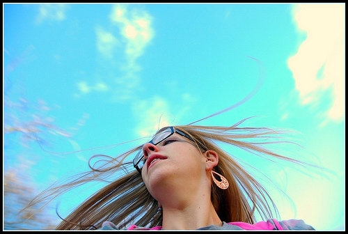 girl with bluesky