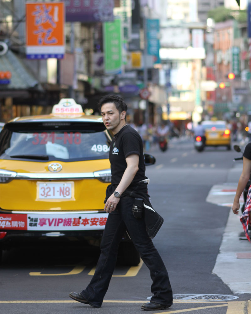 台北の街並みと自分