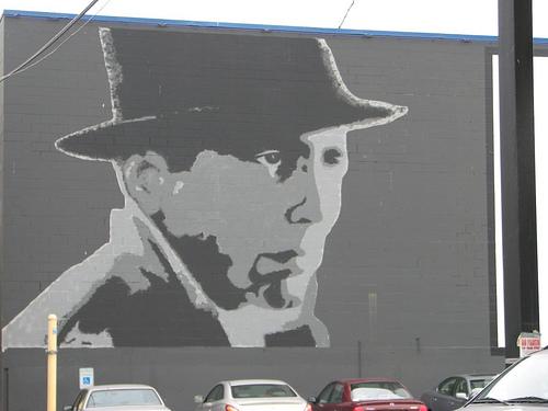 ハンフリー・ボガートを描いた壁画