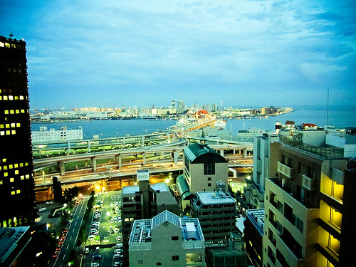 夕方の神戸